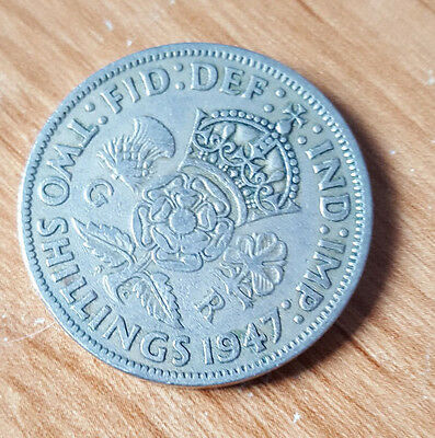1947 King George VI Florin Two 2 Shilling Coin  circulated