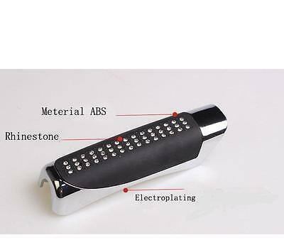 -BLACK Rhinestone Finish Handbrake Handle Sleeve Cover fits MERCEDES