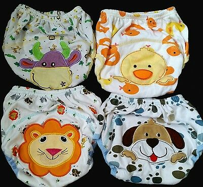 4 cute potty training pants (3 are brand new BNWOT) 100% cotton age 2-3 bundle