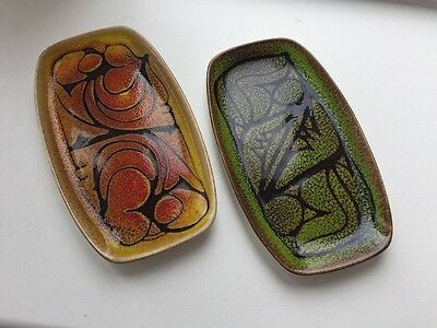 Vintage Poole pottery 2 X AEGEAN 361 Pin trays Fully Marked
