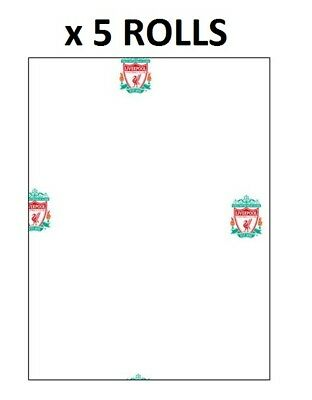 Liverpool LFC Wallpaper Official Football White With Original Badge Fan Kids x 5