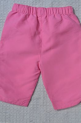 Girls Pink Elasticated Waist Cropped Trousers UK Age 9 -12 Months