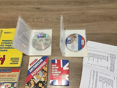Learn Russian, two cds and various books and material
