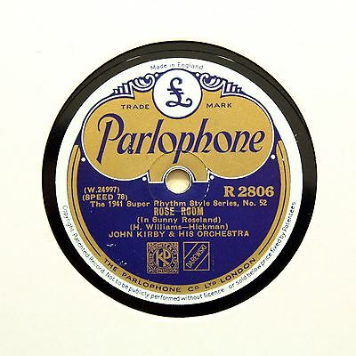 """JOHN KIRBY & HIS ORCHESTRA """"Rose Room / Coquette"""" PARLOPHONE R-2806 [78 RPM]"""