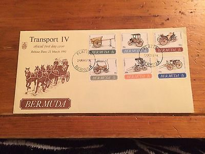 Bermuda Transport IV First Day Cover
