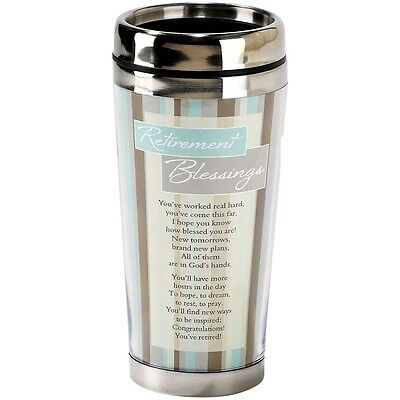 Insulated Travel Mug - Retirement Blessings - Tea Coffee - 16 oz Stainless Steel