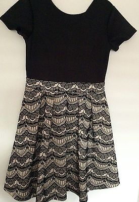 BRAND NEW Girls  Party Dress Black Origami Size 16