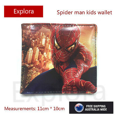 Boys Girls Kids Teenage Biofold PU Leather Wallet -- Spiderman