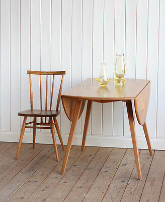 Vintage Retro Ercol Elm Drop Leaf Dining Table Mid Century