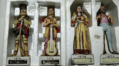 Vintage Hoffman original creation, porcelain Indian figurine with whisky x 2 box