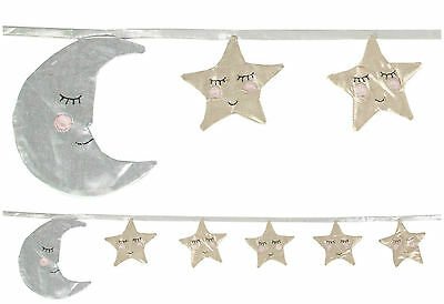 Sass & Belle Sweet Dreams Sleep Tight Moon & Stars Bunting Nusery Baby Kids Gift