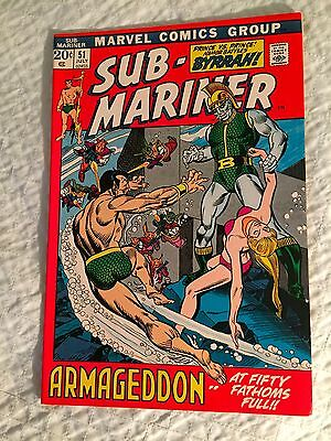Sub-Mariner 51 Gil Kane Bill Everett Byrrah Marvel Bronze Age 1973