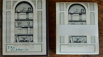 Vintage Etchcraft Bookplates From The Library Of