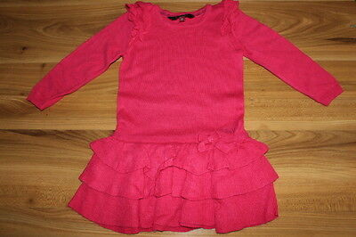 TED BAKER girls pink knitted dress 2-3 years *I'll combine postage