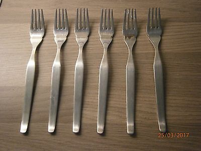 6 x  vintage Viners Profile forks. Stainless Steel Cutlery.