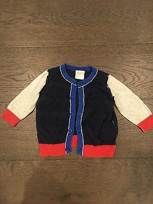 Seed Baby Boys 6-9 months 100% Cotton Knit Cardigan