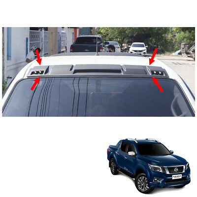 LED Front Roof Spoiler Cover Black 1 Pc Fit Nissan Np300 Navara D23 2015 16 17