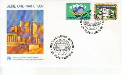 U.N. (Vienna) - Various Issues of 1987 (2no. Vienna FDC's) 1987