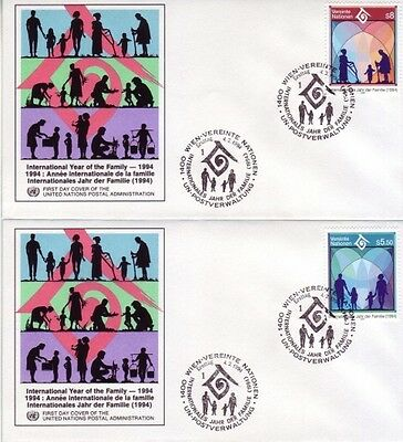 U.N. (Vienna) - Various Issues of 1994 (3no. Vienna FDC's) 1994