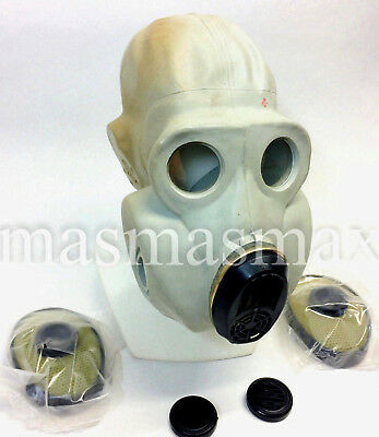 soviet russian gray gas mask PBF EO-19 size 4 EXTRA LARGE XL