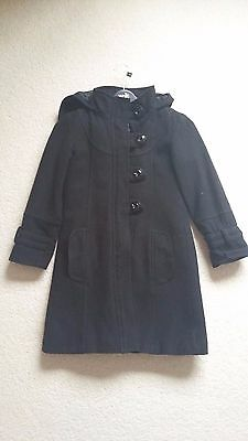 Black Next Girls Coat 7 - 8 Years