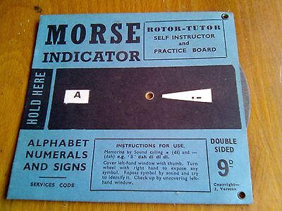 Morse Code Indicator - Rotor Tutor Self Instructor A-Z - Punctuation - Numbers