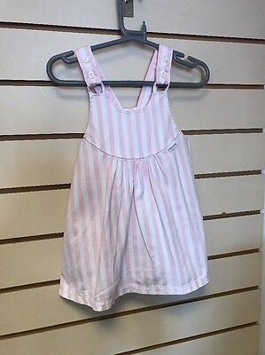 Girls Vintage Pinafore Candy Stripe Dress Mothercare 2 Years