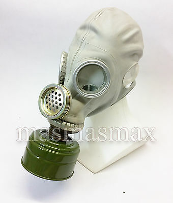 soviet russian gray rubber gas mask GP-5M PMG-2 size 2 MEDIUM with filter 40mm