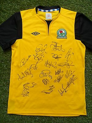 BLACKBURN ROVERS Shirt Hand Signed by 2016/2017 Squad - 20 Autographs Graham