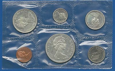 Canada 1965 Year set of Coins with at least an Ounce of Silver in these coins