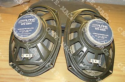 """/////ALPINE 6"""" x 9"""" SPEAKERS 90Wt 2-WAY SPE-6920 REMOVED FROM DISPLAY OLD SCHOOL"""