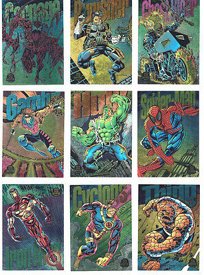 1994 Marvel Universe Skybox Powerblast Set of 9 Cards Hobby Excl