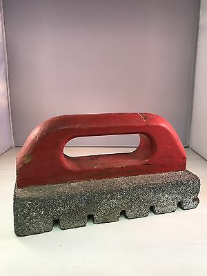 Vintage Carborundum Rubbing Brick No. HR 250 Wood Handle