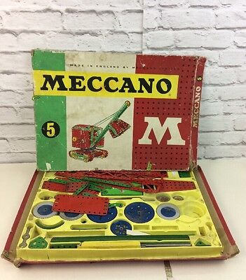 Vintage Boxed Meccano Set Number 5 Digger.