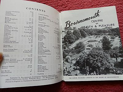 Bournemouth - What to do - What to see 1/-  vintage guide