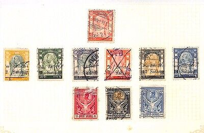 SA1233 THAILAND Siam Overprints Original Album page from old-time collection