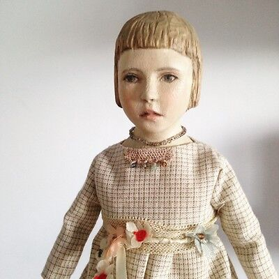 Hand Carved Wood art doll