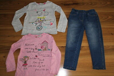 NEXT girls MOUSE tops jeggings bundle 2-3 years *I'll combine postage