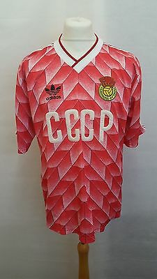 Russia CCCP 1990 Home Football Shirt Size 44/46 L Large - Red Soviet USSR Adidas