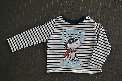 T-shirt longues manches SNOOPY Little Super Hero - taille 74/80 cm