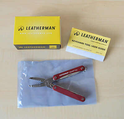Leatherman Squirt Elektro ES4 - Rot - 831236 EAN 037447278914 Made in USA NEU