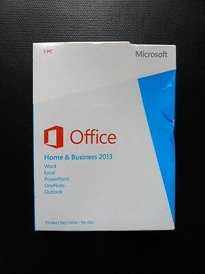Microsoft Office Home and Business 2013 Word Excel Outlook T5D-01574 (DAMAGED)