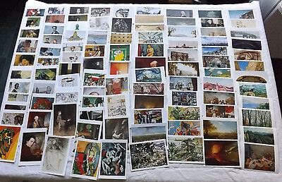 Job Lot x 100 Different Art Postcards Paintings By Famous Artists NEW JB130