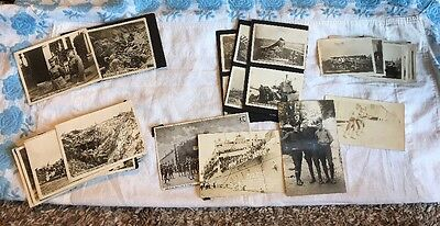 Original WWI Photos Lot Of 57 In Various Sizes And Subject Matters