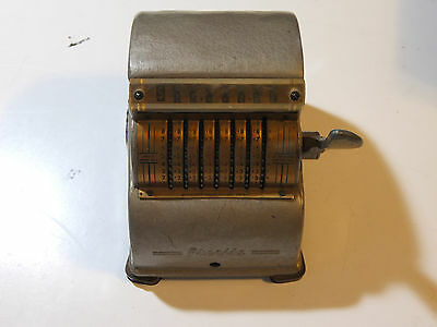 Vintage PRECISE Mechanical Adding Machine Complete w/ Stylus Made in Chicago USA