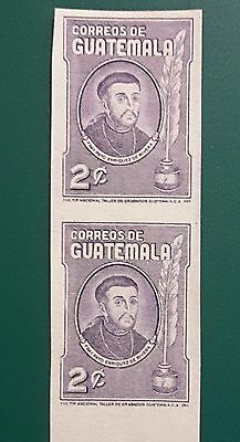 Guatemala vertical pair imperforate,  scott 315a, mh.