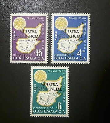 Guatemala 1956, complete set  , specimen `Muestra Presidencial` mint. rare