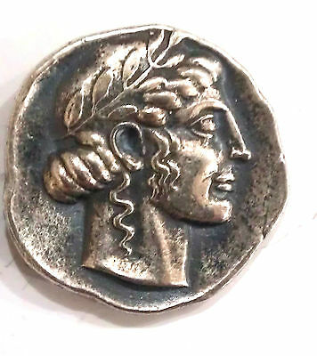 Apollo//Lion's (Sicily) Greek Coins Silver Tetradrachm 446-422B.C