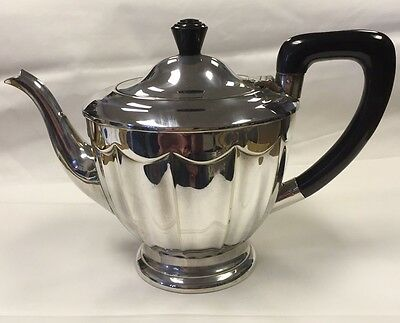 Vintage Silver Played Hallmarked Teapot Viners of Sheffield