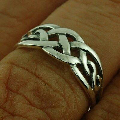 Solid Silver Celtic Knot Ring, MIX US SIZE, 925 Plain Sterling Silver,